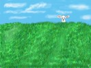Grün, Himmel, Tiere, Schaf