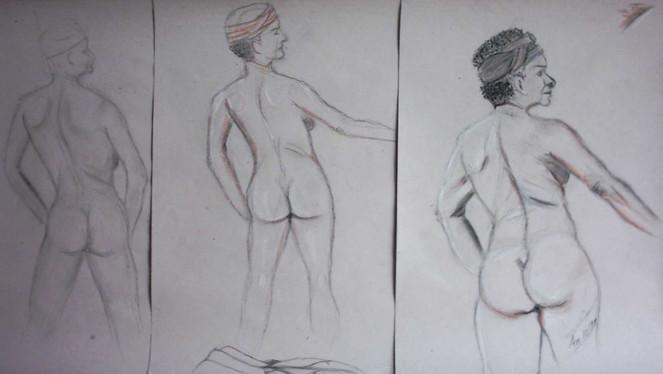 Steps, Zeichnung, Skizze, Kurs, Akt, Zeichnungen