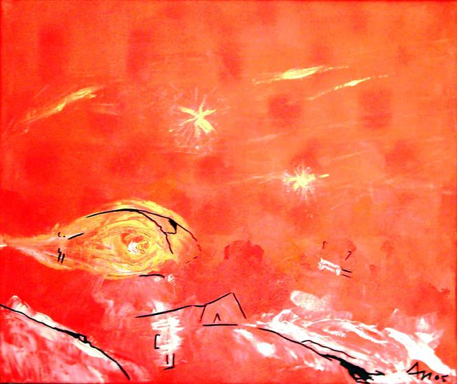 Abstrakt, Malerei, Rot, Stimmung