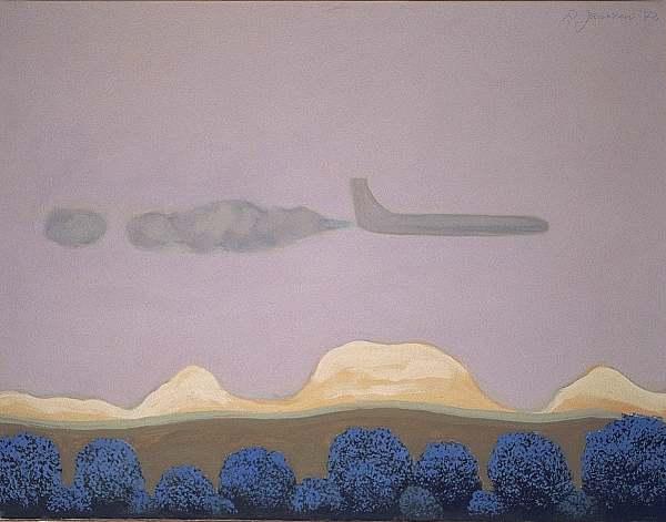 Flugzeug, Berlin, Surreal, Malerei,