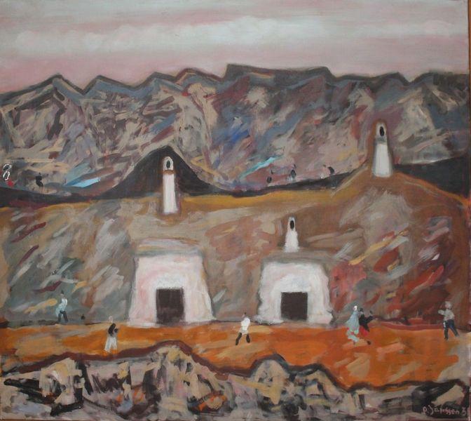 1955, Landschaft, Guadix, Gemälde, Spanien, Malerei