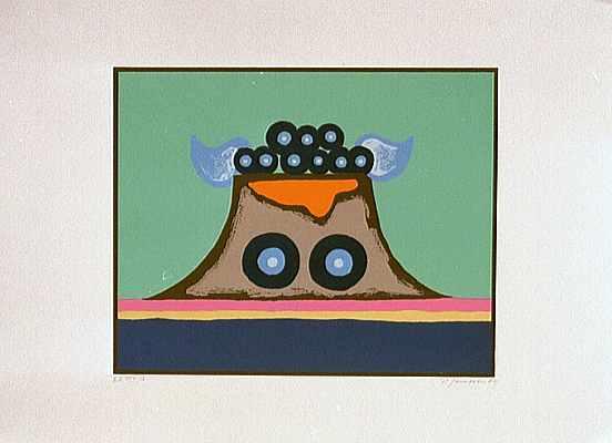 Surreal, Malerei, Lithografie, 1978, Figurativ, Guff