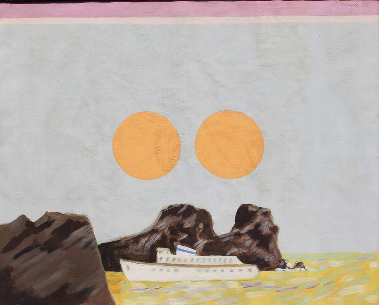 Sonne, Gemälde, Schiff, Malerei, Passage, 1971