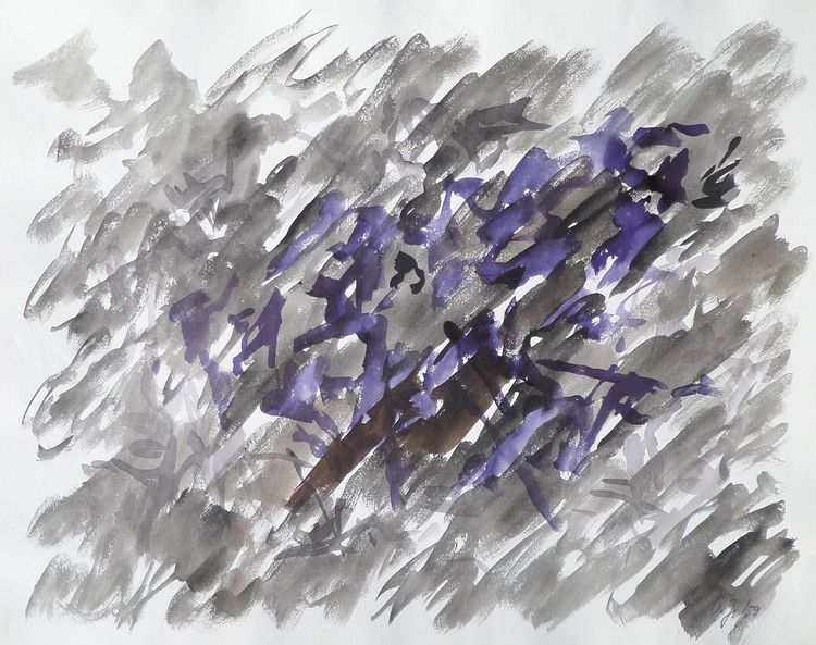 Zeichnung, 1959, Mutter ey, Entartete kunst, Aquarell, Abstrakt