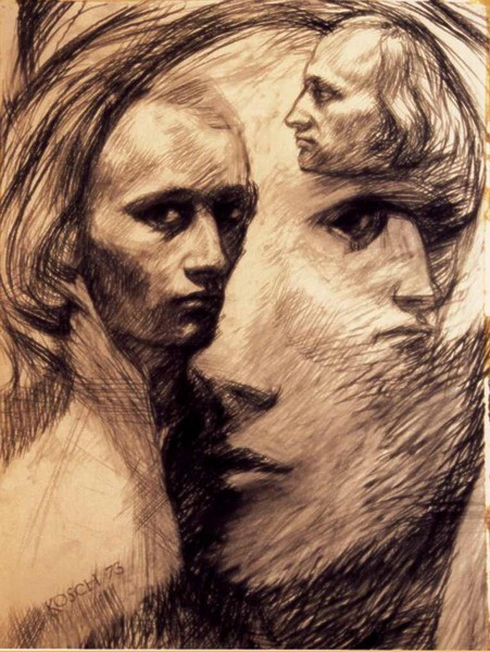 Selbstportrait, Zeichnung, Selbsbildnis, Portrait, Zeichnungen,