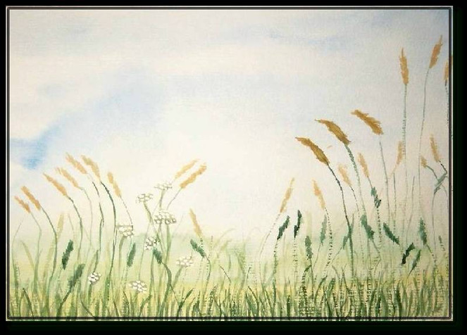 Malerei, Landschaft, Wiese