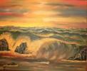 Malerei, Landschaft, Meer