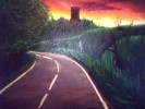 Landschaft, Malerei, Burg