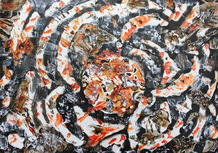 Karton, Acrylmalerei, Abstrakt, Malerei, Malerei ii, Gravitation