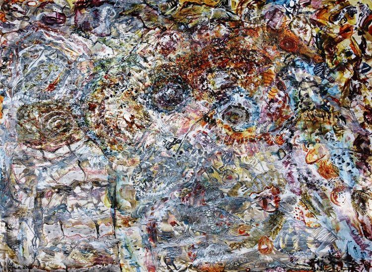 Karton, Acrylmalerei, Traum, Mythos, Malerei, Malerei ii