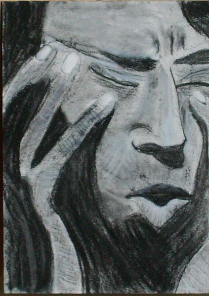 Glas, Zeichnung, Anspannung, Konzentration, Ruhe, Zeichnungen