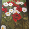 Landschaft, Mohnblumen, Malerei, Wiese