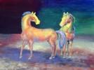 Tiere, Acrylmalerei, Pferde, Bunt