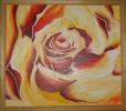 Malerei, Ölmalerei, Rose
