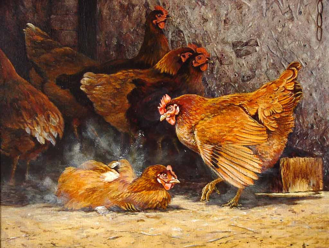 Vogel, Huhn, Malerei