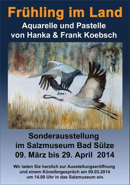 Bad sülze, Aquarellmalerei, Pastelle, Ausstellung, Hanka koebsch, Pinnwand