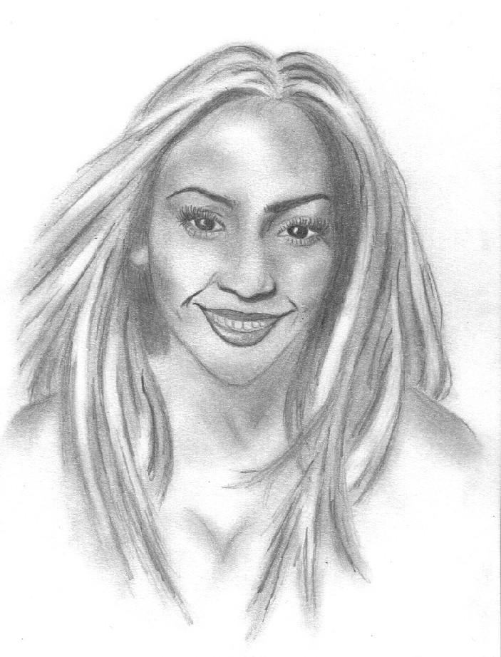 Kunstnet werke zeichnungen portrait j lo