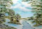 Landschaft, Malerei, Schnee, Himmel