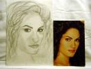 Zeichnung, Portrait, Zeichnungen, Frau