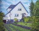 Malerei, Landschaft, Haus, Himmel