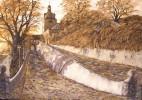 Schloss, Malerei, Baum, Straße
