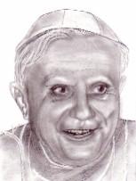 Zeichnung, Portrait, Zeichnungen, Papst