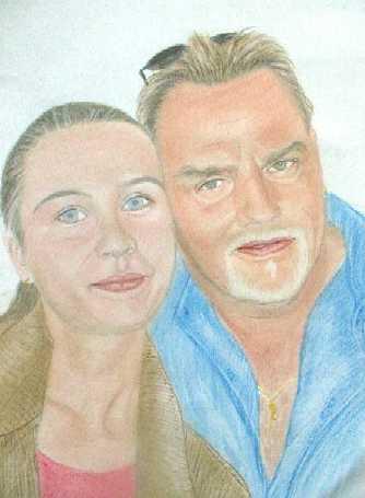 Portrait, Zeichnung, Zeichnungen, Tochter, Vater