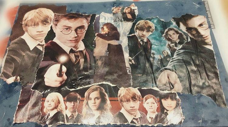 Potter, Collage, Magie, Fantasie, Schule, Malschule