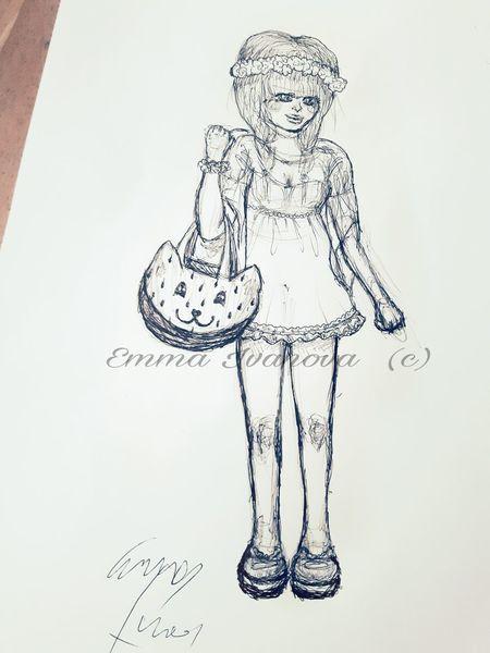Comic, Wassermelone, Kuli, Emmaivanova, Anime, Wassermelonenkatzentasche