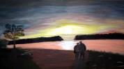 Mississippi, Landschaft, Sonnenuntergang, Paar