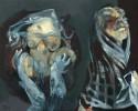 Konflikt, Hände, Malerei, Figural