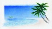 Landschaft, Zeichnung, Zeichnungen, Strand