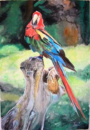 Figural, Malerei, Vogel