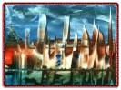 Fiktion, Malerei, Landschaft, Stadt