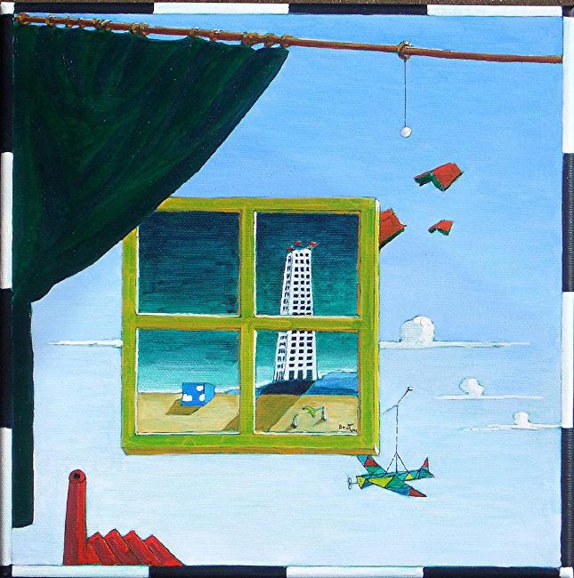Das zeitfenster fantasie landschaft surreal vorhang - Fenster abdichten acryl ...