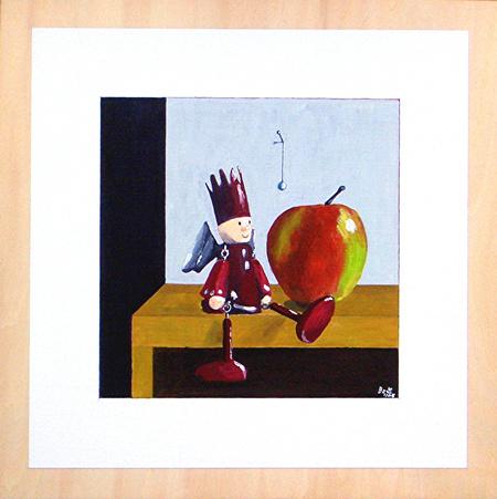 Figural, Apfel, Engel, Malerei, Pflanzen