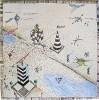 Zeichnung, Surreal, Spinnennetz, Brücke