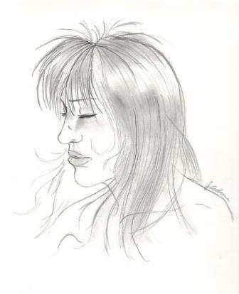 Skizze, Frau, Zeichnung, Zeichnungen