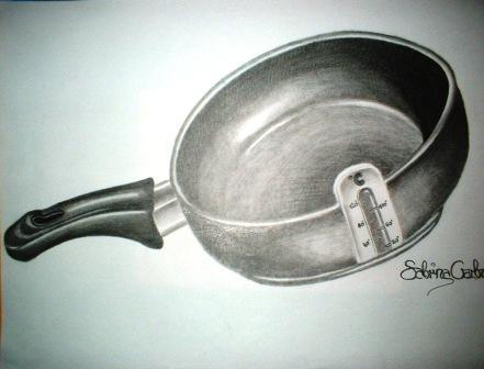 Pfanne, Zeichnung, Zeichnungen