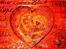 Malerei, Rot, Herz, Passion
