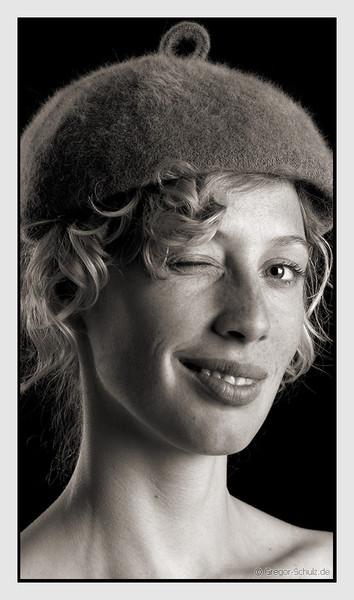 Monochrom, Frau, Menschen, Fotografie, Hut, Portrait