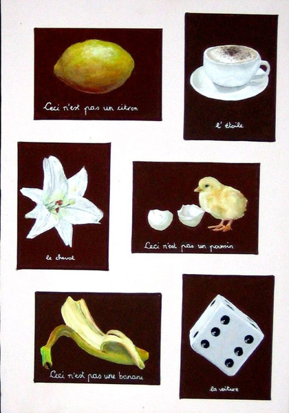 Pas, Magritte, Nest, Rohr, Surreal, Malerei