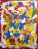 Fliegen, Malerei, Abstrakt, Vogel