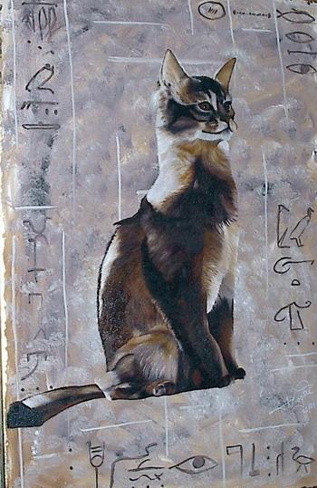 Malerei, Figural, Katze
