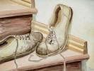Malerei, Stillleben, Schuhe, Aquarellmalerei