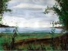 Malerei, Landschaft, See, Freiheit
