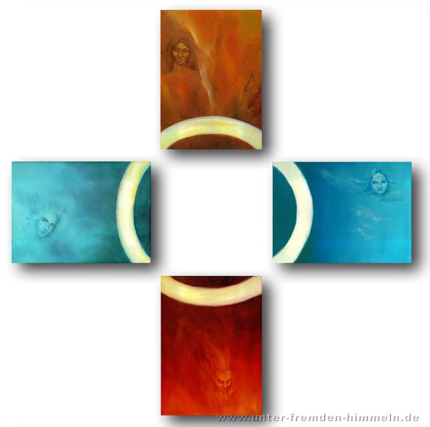 Surreal, Feuer, Elemente, Wasser, Erde, Mythologie