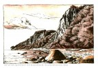 Kreidefelsen, Meer, Landschaft, Zeichnung