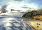 Strand, Malerei, Meer, Landschaft