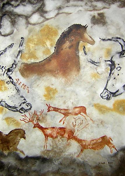 Höhle, Lascaux, Stier, Malerei, Wandmalerei, Kuh